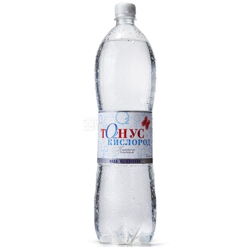 Куяльник, упаковка 6 шт. по 1,5 л, негазированная вода, Тонус-Кислород, ПЭТ