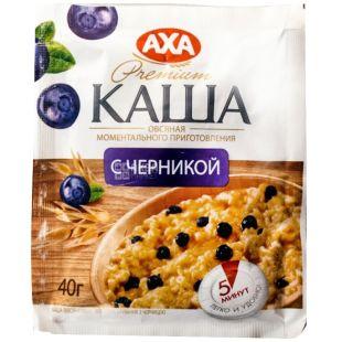 AXA, 40 g, instant porridge, oatmeal with blueberries