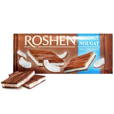 Roshen, 90 г, молочный шоколад, Кокосовая нуга