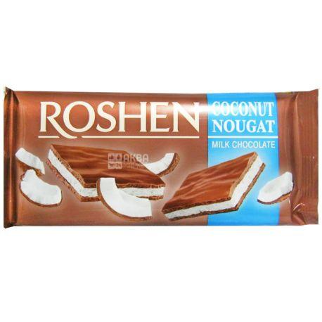 Roshen, 90 г, молочний шоколад, Кокосова нуга