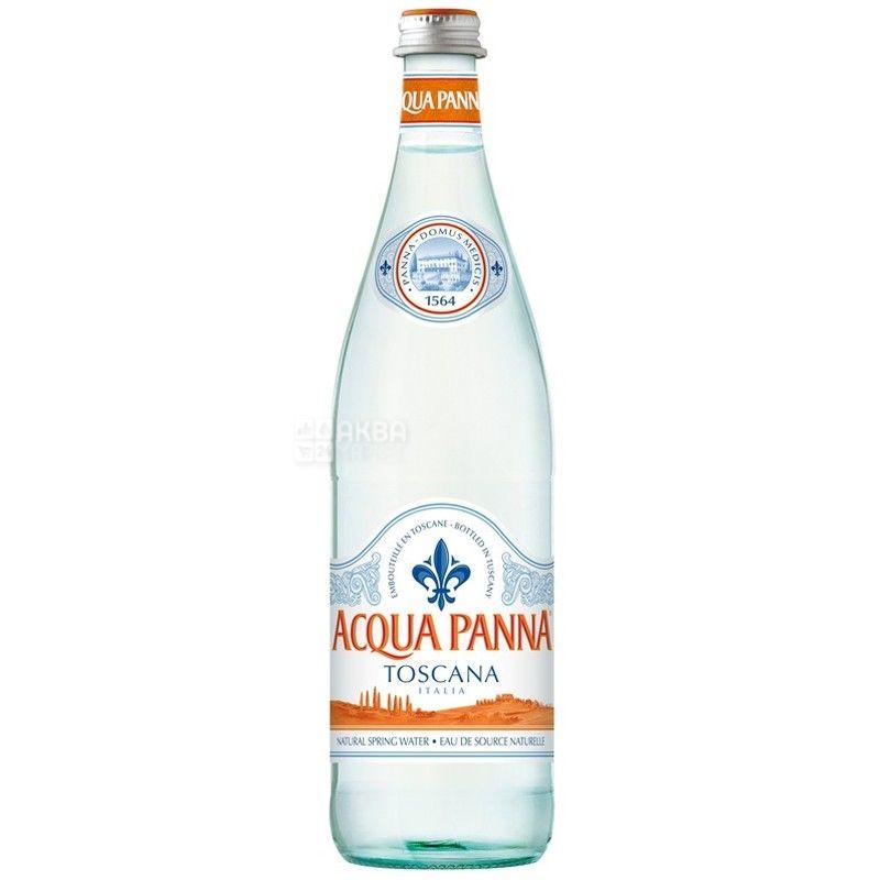 Acqua Panna, Упаковка 15 шт. по 0,75 л, Вода негазированная, Минеральная, стекло