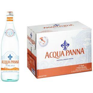Acqua Panna, 0,75 л, Упаковка 15 шт., Аква Панна, Вода минеральная негазированная, стекло