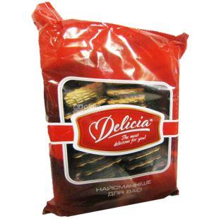 Delicia, 300 г, печиво здобне, Маргаритка, глазуроване, з джемом, Малина