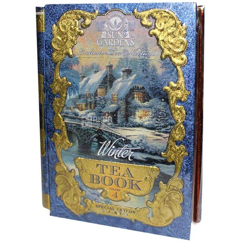 Sun Gardens, Tea Book Winter, Volume 4, 100 г, Чай Сан Гарденс, Книга Зима, Том 4, черный и зеленый с кардамоном