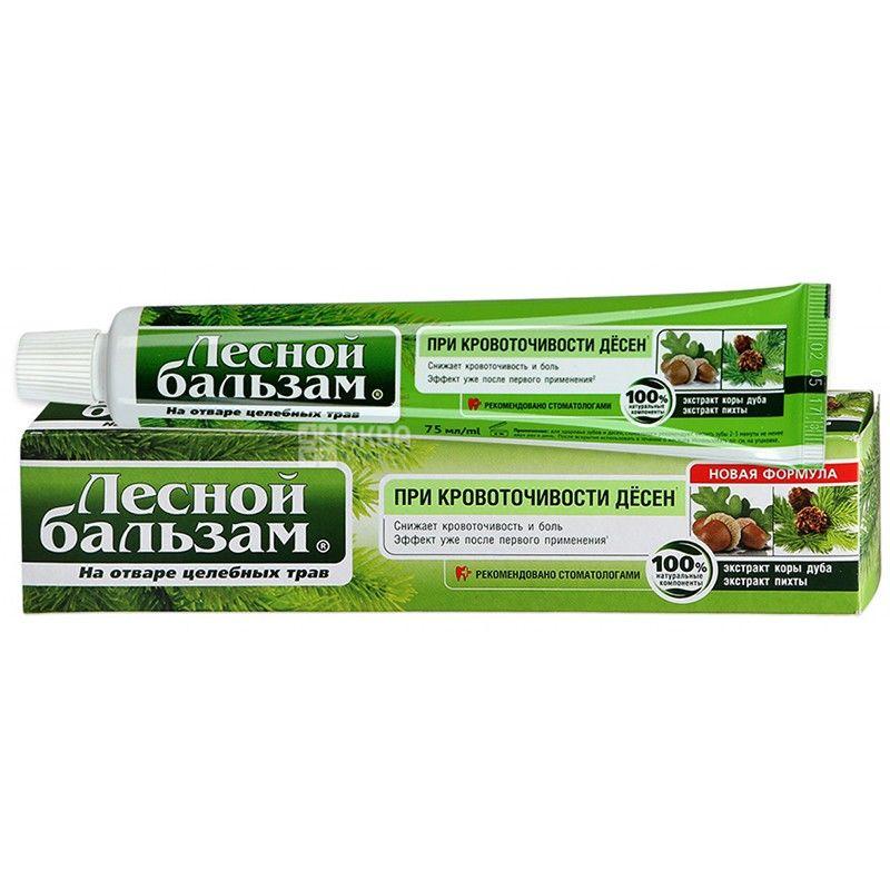 Лісовий бальзам, 75 мл, зубна паста, при кровоточивості ясен