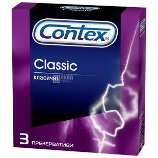 Contex, 3 шт., презервативы, Classic