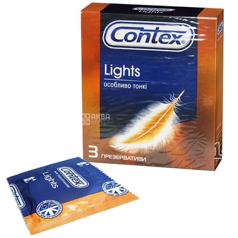 Contex, 3 шт., презервативы, Light