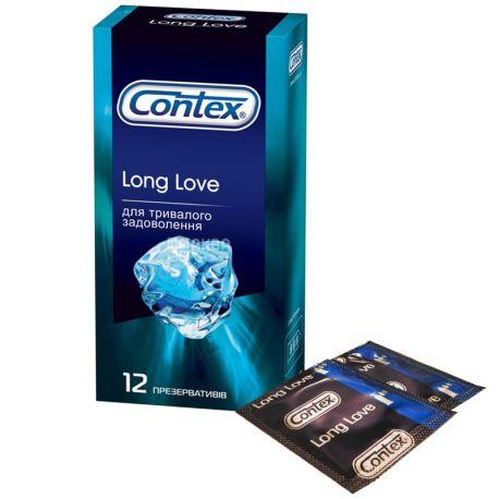 Contex, Long Love, 12 шт., Презервативы для длительного удовольствия