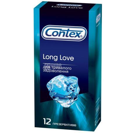 Contex, Long Love, 12 шт., Презервативи для тривалого задоволення
