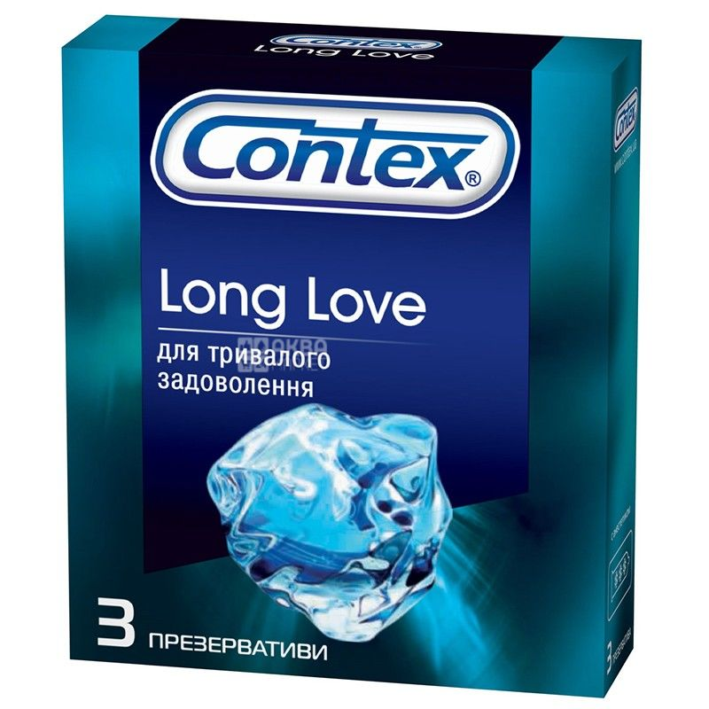 Contex, 3 шт., презервативи, Long Love
