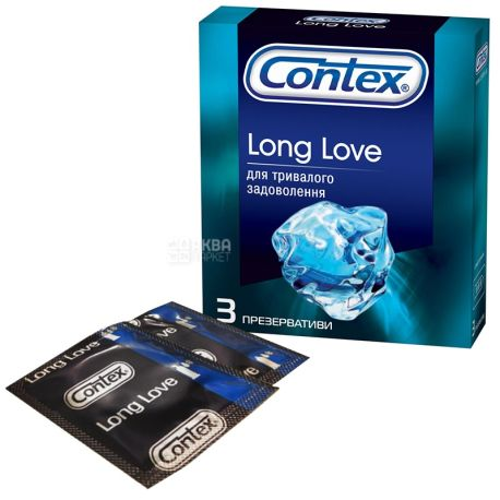 Contex, 3 шт., презервативы, Long Love