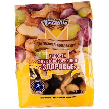 SantaVita Полезная коллекция Орехово-фруктовое ассорти Здоровье, 200 г