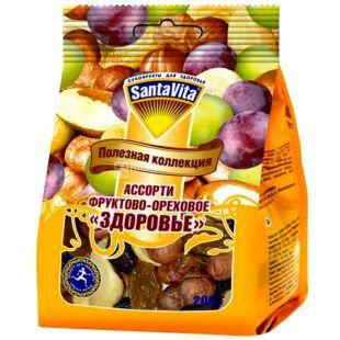 SantaVita Корисна колекція Горіхово-фруктове асорті Здоров'я, 200 г