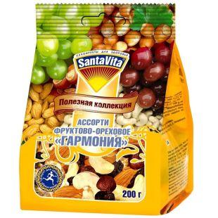 Santa Vita Корисна колекція Горіхово-фруктове асорті Гармонія, 200 г