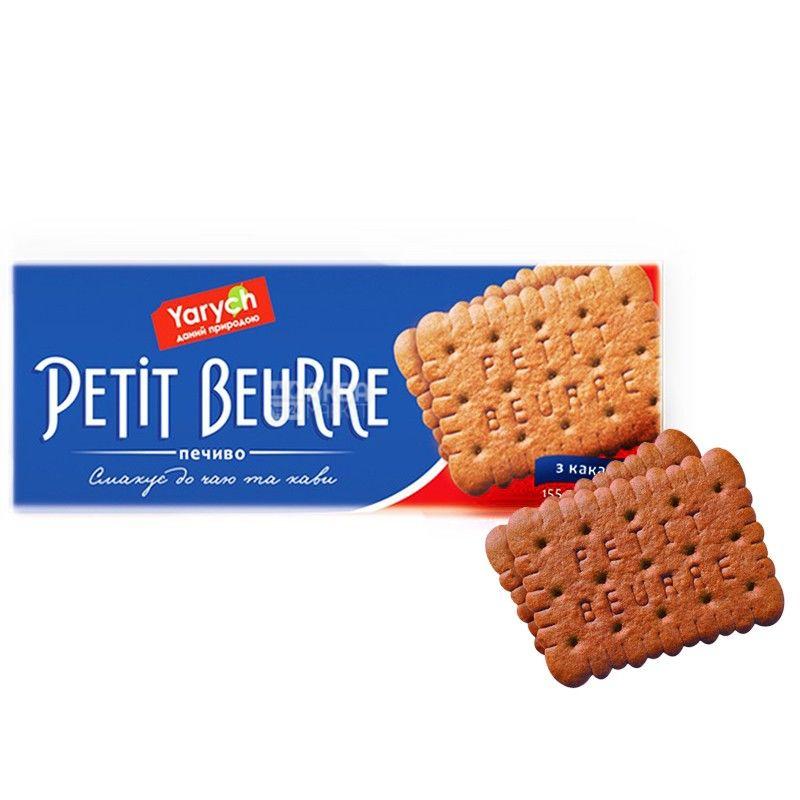Yarych, 155 г, печиво, Petit Beurre, з какао