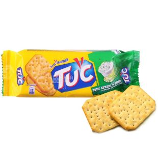 TUC, 100 г, крекер, Сметана-лук