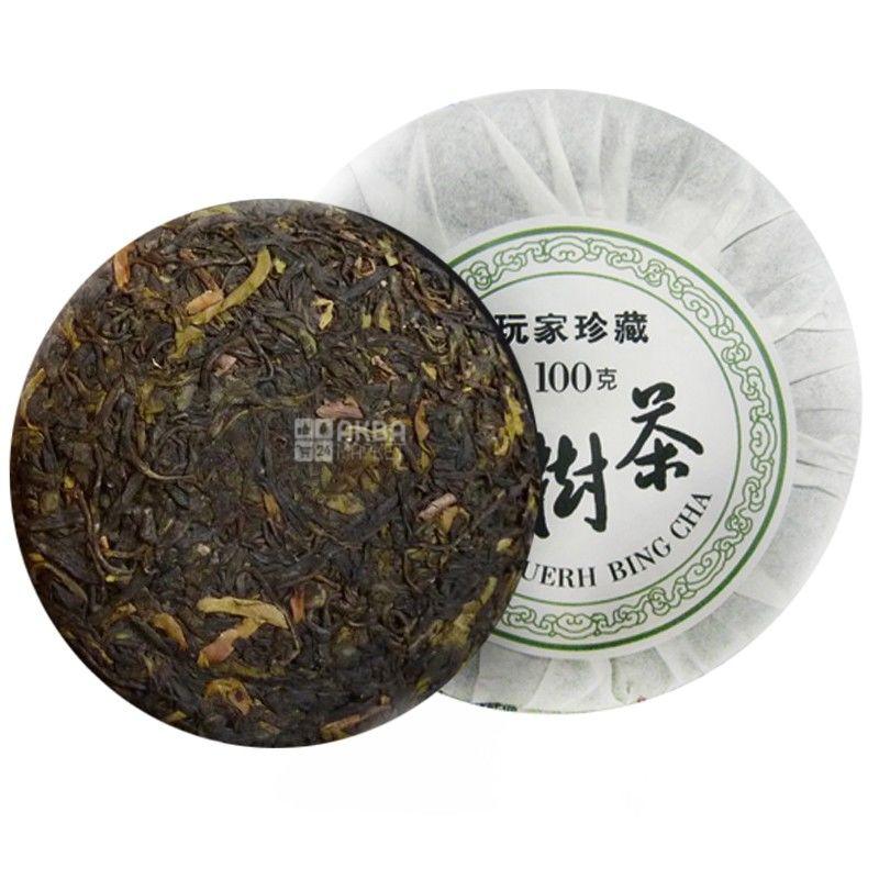Османтус, 100 г, чай пуэр, зеленый, выдержанный, Бин ча Шен