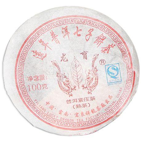 Османтус, Bing cha Shue, Puerh, 100 г, Чай, Бін ча Шу пуер, чорний