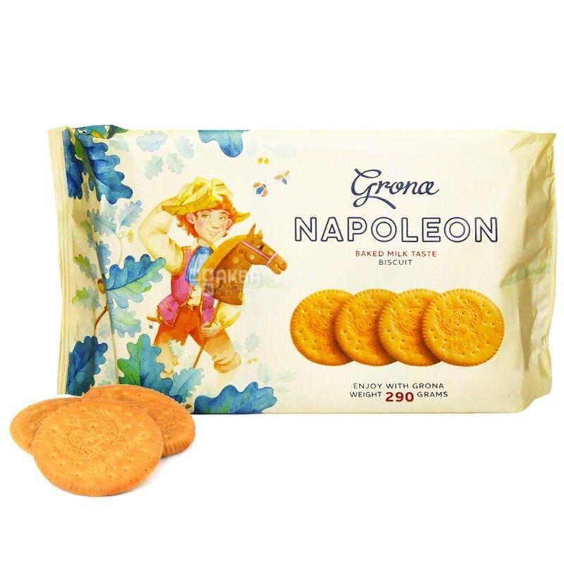 Grona, 290 г, печенье, Наполеон, со вкусом топленого молока