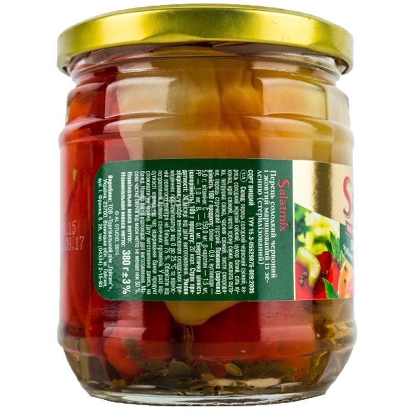 Salatmix, 380 г, перец, сладкий красный и желтый, маринованный с зеленью