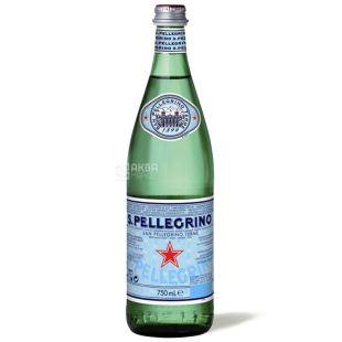 San Pellegrino, 0,75 л, Вода газована, Мінеральна, скло