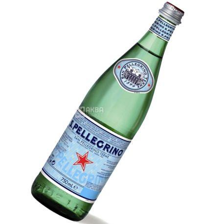 San Pellegrino, 0,75 л, Сан Пеллегрино, Вода минеральная газированная, стекло
