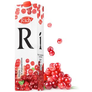 Rich, 1 l, juice, From cranberry, m / s