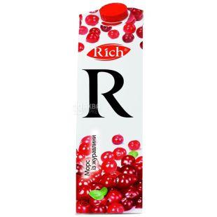 Rich, 1 л, Річ, Журавлинний, Морс натуральний, освітлений
