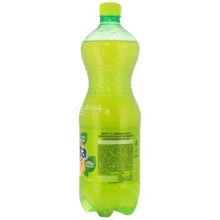 Fanta, Лимон, 1 л, Фанта, Вода сладкая, с натуральным соком, ПЭТ