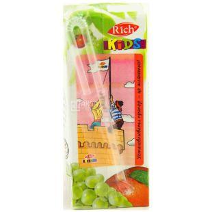 Rich Kids, Яблоко-виноград, 0,2 л, Рич Кидс, Нектар натуральный, детям с 12-ти месяцев