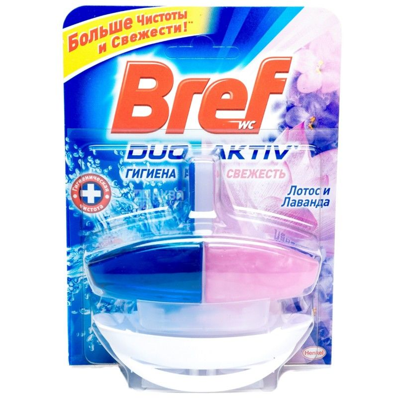 Bref Duo-Aktiv, 50 мл, блок для унітазу, Лотос & Лаванда, ПЕТ