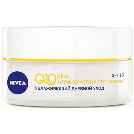 Nivea, 50 мл, денний крем Q10+
