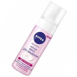 Nivea, 150 мл, мусс нежный для умывания, Aqua Effect