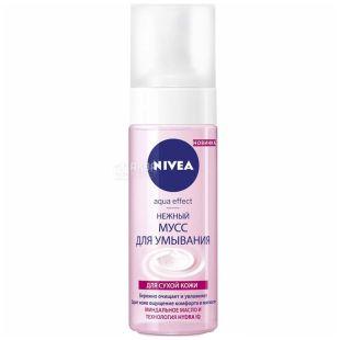 Nivea, 150 ml, gentle mousse for washing, Aqua Effect