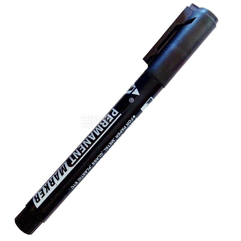 TENFON, Маркер перманентний, Чорний, 2-4 мм
