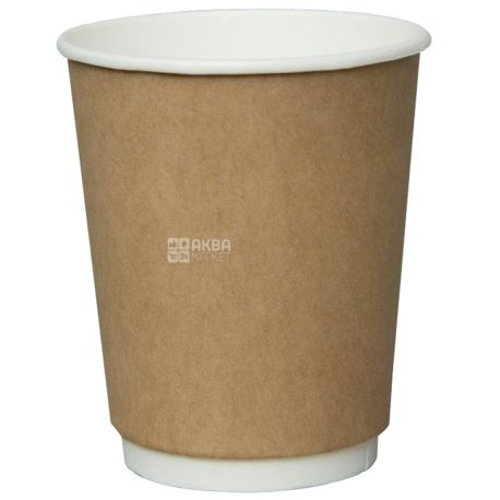 Craft Paper Cup Two-Layer 250 ml, 25 pcs, D80