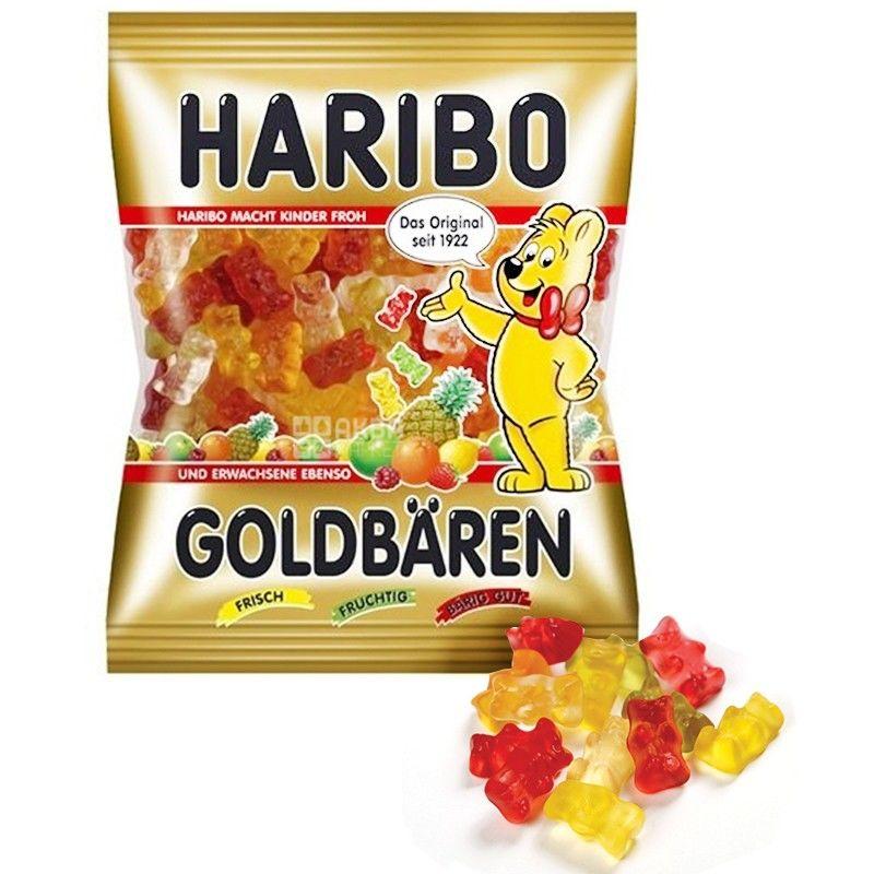 HARIBO, 100 г, жевательные конфеты, Золотые медведи