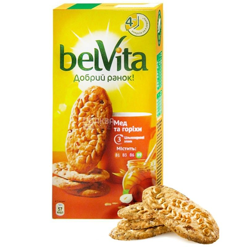 Belvita, 300 g, biscuits, Good morning, with honey and nuts