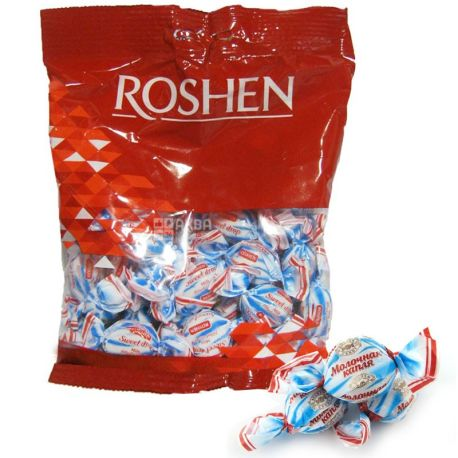 Roshen, 200 g, caramel candies, Milk drop