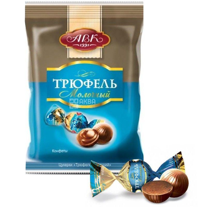 АВК, 200 г, цукерки шоколадні, Трюфель молочний