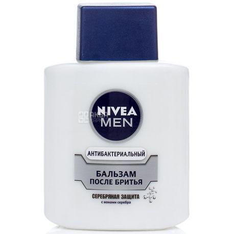 Nivea, 100мл, Бальзам после бритья, Серебряная защита