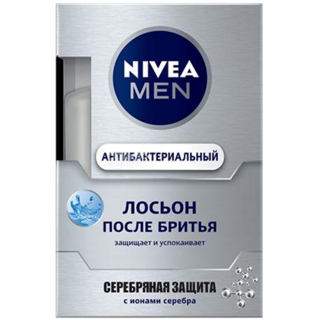 Nivea, 100мл, Лосьон после бритья, Серебряная защита