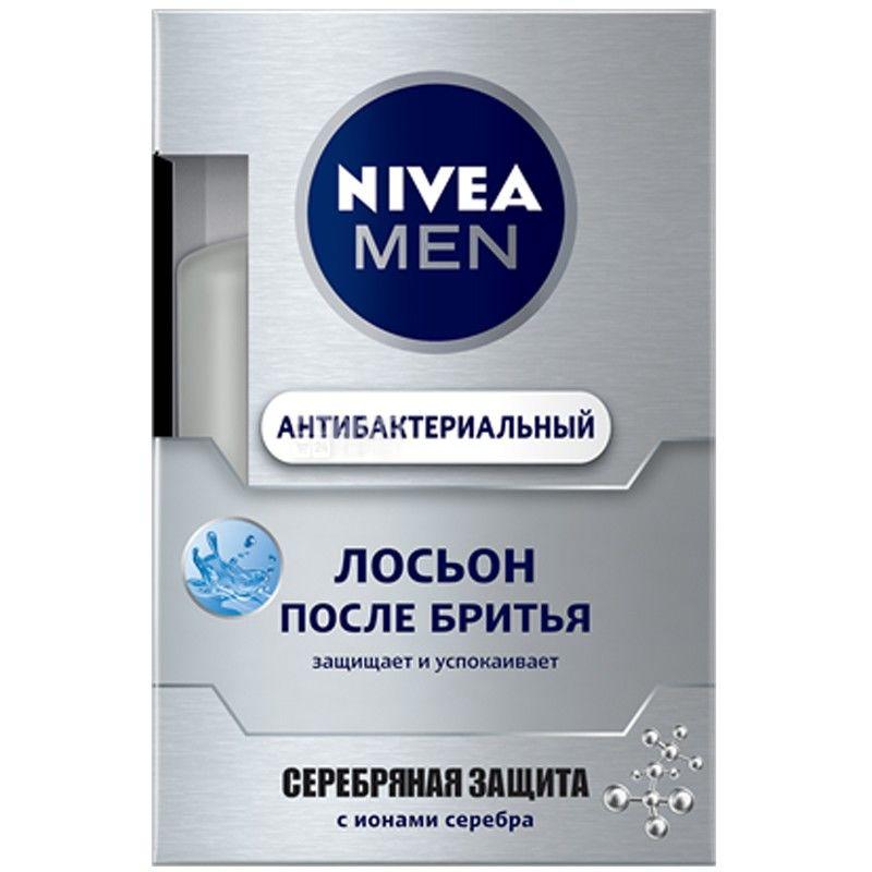 Nivea, 100мл, лосьйон після гоління, Срібний захист