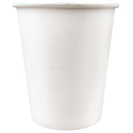 Промтус, 50 шт., 180 мл, стакан паперовий, Білий, м/у