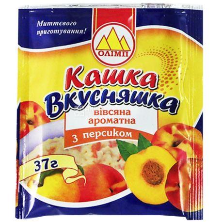 Каша Олимп, 37 г, Каша, овсяная, с персиком, Вкусняшка