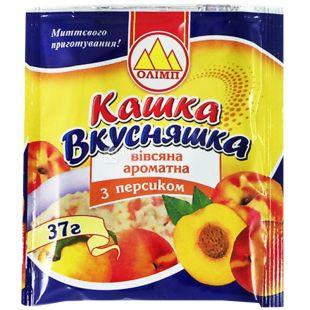 Каша Олімп, 37 г, Каша, вівсяна, з персиком, Вкусняшка