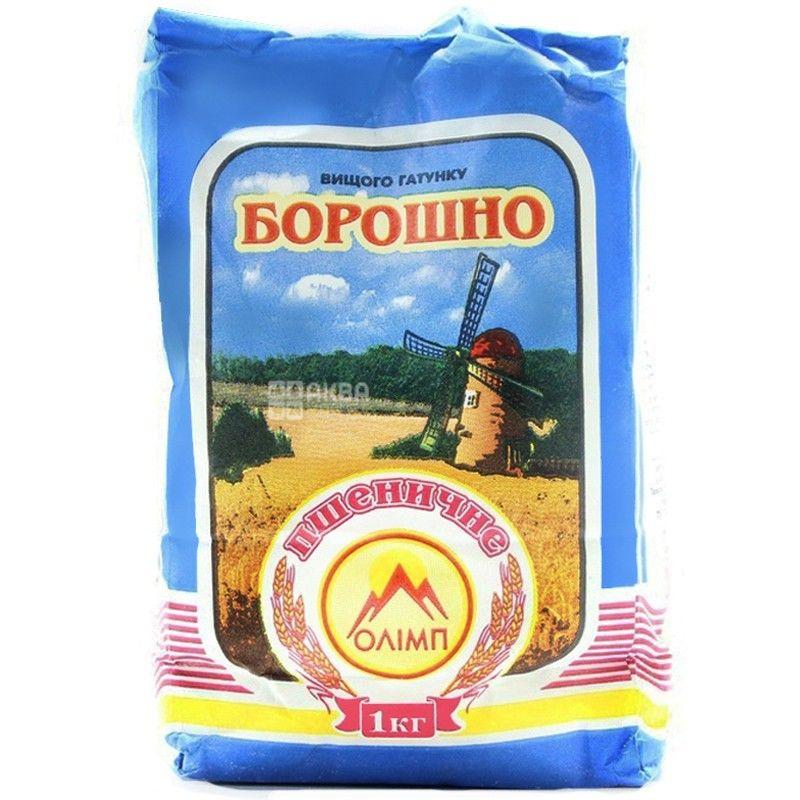 Олимп, Мука пшеничная, высший сорт, 1 кг
