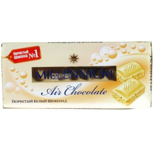 Millennium, 90 g, White Chocolate, Porous