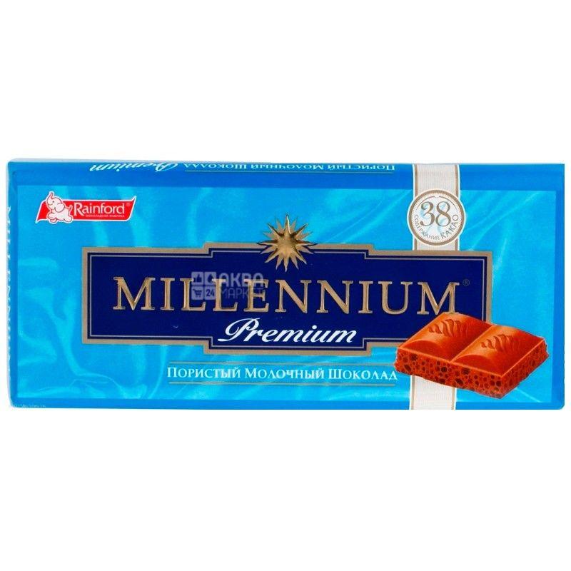 Миллениум шоколад , 90 г, пористый молочный премиум