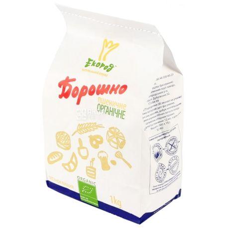 Экород, Мука пшеничная, органическая, высший сорт, 1 кг